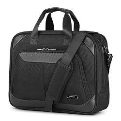 SHIELDON Laptop Bag Business Briefcase 15.6-inch Computer Bag Messenger Bag Carry-on Handbag Dur ...
