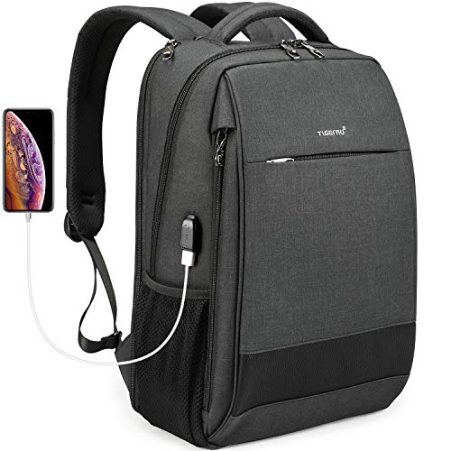 Tigernu Travel Laptop Backpack Business Anti Theft Slim Backpacks with USB Charging Port Water R ...