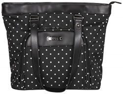 Kenneth Cole Reaction Dot Matrix 600d Polka Dot Polyester 15.6″ Top Zip Travel Tote, Black