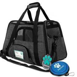 PetAmi Premium Airline Approved Soft-Sided Pet Travel Carrier | Ventilated, Comfortable Design w ...