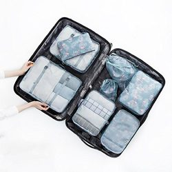 angel3292 Clearance Deals 8Pcs/Set Travel Luggage Packing Cubes Clothes Storage Shoes Bag Organi ...
