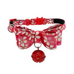 Collar For Small Dogs And Cats Cute Bowtie Dog Collar for Girls and Boys Detachable Bowknot Adju ...