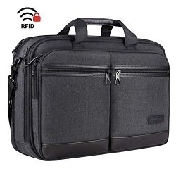 KROSER 18″ Laptop Bag Stylish Laptop Briefcase Fits Up to 17.3 Inch Expandable Water-Repel ...