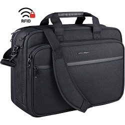 KROSER 18″ Laptop Bag Premium Laptop Briefcase Fits Up to 17.3 Inch Laptop Expandable Wate ...