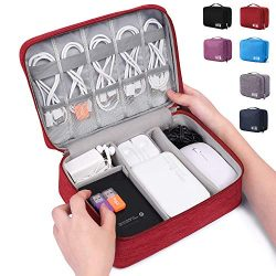 Electronic Organizer Travel Universal Cable Organizer Electronics Accessories Cases for Cable, C ...