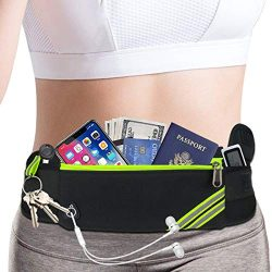 Slim iPhone Running Pouch Belt,Phone Fanny Pack for Women Men,Workout Gym Waist Pack Bag,Reflect ...