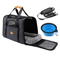 Pet Travel Carrier Bag, Morpilot Portable Pet Bag – Folding Fabric Pet Carrier, Travel Car ...