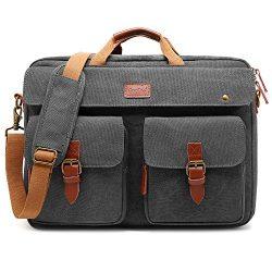 CoolBELL Convertible Messenger Bag Backpack Laptop Shoulder Bag Business Briefcase Leisure Handb ...