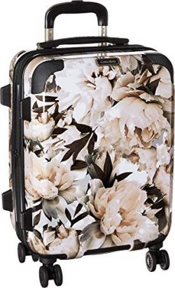 Calvin Klein 20″ Hardside Spinner Luggage with TSA Lock, Floral/White