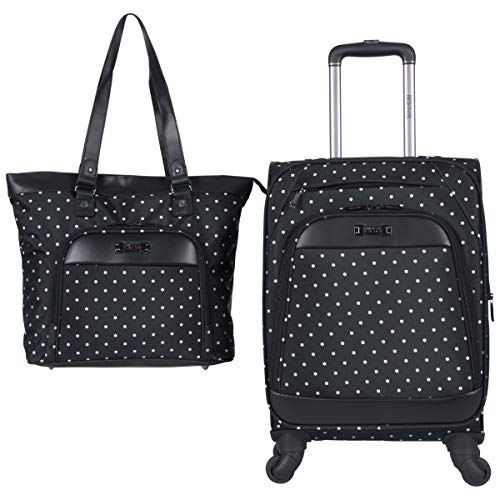 Kenneth Cole Reaction Dot Matrix 600d Polyester 2-Piece Luggage Set Laptop Tote, 20″ Carry ...