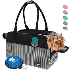 PetAmi Airline Approved Dog Purse Carrier | Soft-Sided Pet Carrier for Small Cat Dog | Stylish P ...