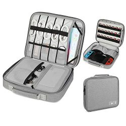 Vemingo Electronic Accessories Organizer Nintendo Switch Carrying Case with 21 Game Cartridge Do ...