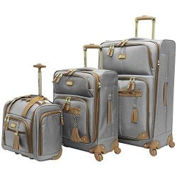 Steve Madden Luggage 3 Piece Softside Spinner Suitcase Set Collection (20″/28″/Under ...