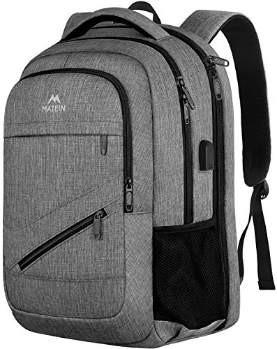 Laptop Backpack 17.3 Inch, TSA Large Travel Backpack for Women Men, MATEIN Water Resistant Colle ...