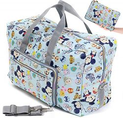 Fordicher Women Nylon Foldable Large Travel Duffel Bag Travel Tote Luggage Bag with Detachable S ...