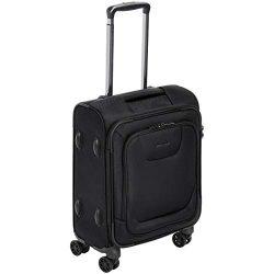 AmazonBasics Expandable Softside Carry-On Spinner Luggage Suitcase With TSA Lock And Wheels R ...