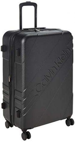 Calvin Klein 28″ Hardside Spinner Luggage with TSA Lock, Black