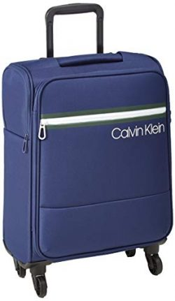 Calvin Klein 21″ Softside Spinner Luggage with TSA Lock, Dark Navy