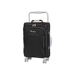 IT Luggage 22″ World's Lightest 8 Wheel Spinner, Raven With Vapor Blue Trim