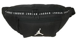 Nike Air Jordan Over sized Taping Crossbody Bag (One Size, Black)