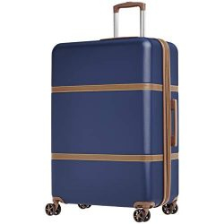 AmazonBasics Vienna Expandable Luggage Spinner Suitcase – 28 Inch, Blue