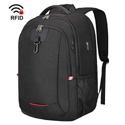 17 inch Laptop Backpack, 17.3 inch Travel Backpack with USB Charging Port, Water Resistant Schoo ...