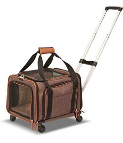 Petpeppy.com PET Peppy Premium Airline Approved Expandable Pet Carrier with Wheels – Two S ...