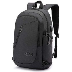 Laptop Backpack,Business Travel Anti Theft Backpack for Men Women with USB Charging Port,Slim Du ...