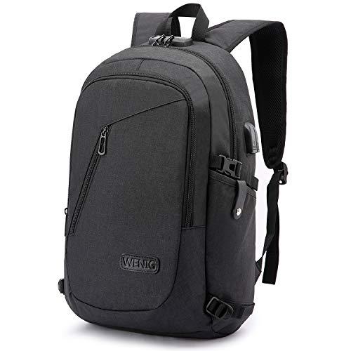 Laptop Backpack,Business Travel Anti Theft Backpack for Men Women with USB Charging Port,Slim Du ...