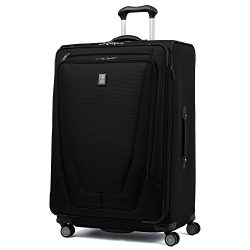 Travelpro Luggage Crew 11 29″ Expandable Spinner Suitcase with Suiter, Black