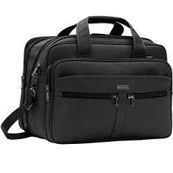 Laptop Bag Briefcase Travel Bag Expandable Large Durable Office Bag Water-Repellent Business Mes ...