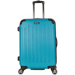 Kenneth Cole Reaction Renegade 24″ Hardside Expandable 8-Wheel Spinner Checked Luggage, Teal