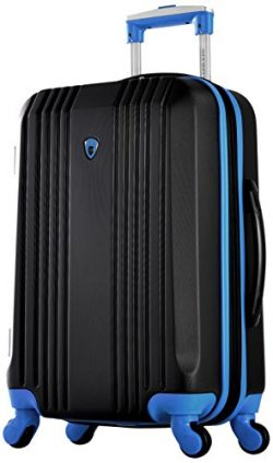 Olympia Apache Ii 21″ Carry-on Spinner, BLACK+BLUE