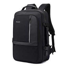 Xnuoyo 17.3 Inch Anti-Theft Convertible Laptop Backpack Briefcase, 8cm Expandable TSA Friendly S ...