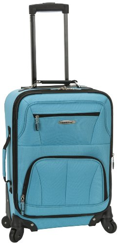 Rockland Luggage 19 Inch Expandable Spinner Carry On, Turquoise, One Size