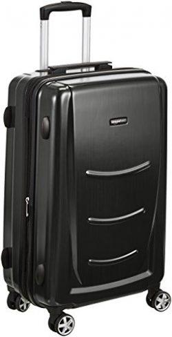AmazonBasics Hard Shell Carry On Spinner Suitcase Luggage – 30 Inch, Slate Grey