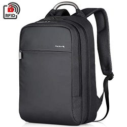 Hanke Travel Backpack Expandable Laptop Backpack, Durable Anti-Theft Business Backpack Bag for W ...