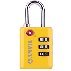 TSA Approved Luggage Locks, Durable Travel Lock with Inspection Indicator and 3 Digit Re-Settabl ...