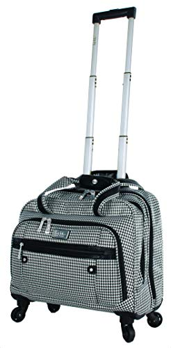 Nicole Miller Taylor Carry On Spinner Briefcase (Taylor Black/White Plaid)