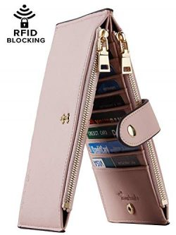 Travelambo Womens Walllet RFID Blocking Bifold Multi Card Case Wallet with Zipper Pocket (Chelse ...