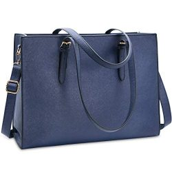 Laptop Bag for Women Waterproof Lightweight Leather 15.6 Inch Computer Tote Bag Business Office  ...