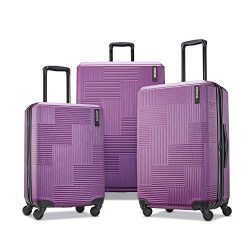 American Tourister Stratum XLT Hardside Luggage, Power Plum, 3-Piece Set