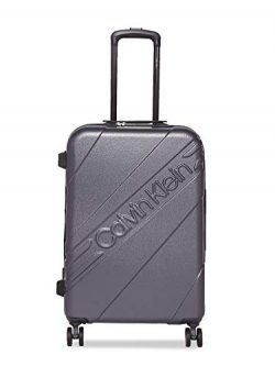 Calvin Klein 20″ Hardside Spinner Luggage with TSA Lock, Grey