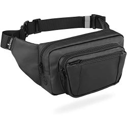 Fanny Pack for Women & Men, Hip Bum Bag Waist Pack Anti-Theft with RFID Blocking, Black Fann ...