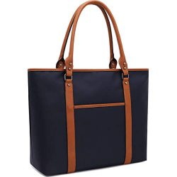 Laptop-Bag 15.6-17 Inch Laptop-Bag-for-Women Nylon Work-Tote-Bag Water-repellent Briefcase Large ...