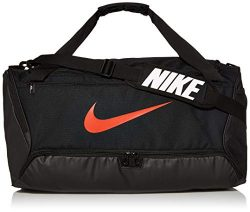Nike Brasilia Training Medium Duffle Bag, Durable Nike Duffle Bag for Women & Men with Adjus ...