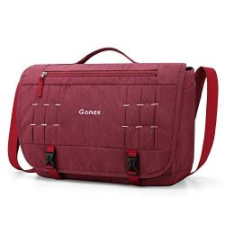 Gonex Messenger Bag Satchel 15 Inch Laptop Shoulder Bags Handbag Briefcase for Men Women for Sch ...