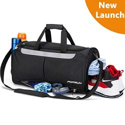 Sports Gym Bag, Travel Duffel Bag with Shoes Compartment for Men and Women, Water Resistant Dura ...