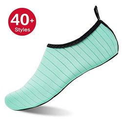 Womens and Mens Kids Water Shoes Barefoot Quick-Dry Aqua Socks for Beach Swim Surf Yoga Exercise ...