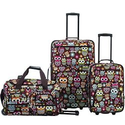 Rockland 3 Pc Luggage Set, Owl